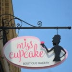 Custom exterior signage for Miss Cupcake