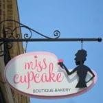 Custom exterior signage for Miss Cupcake