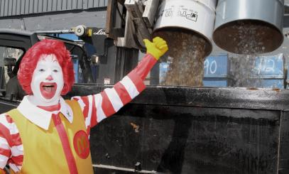 ronald mcdonald at scrap site