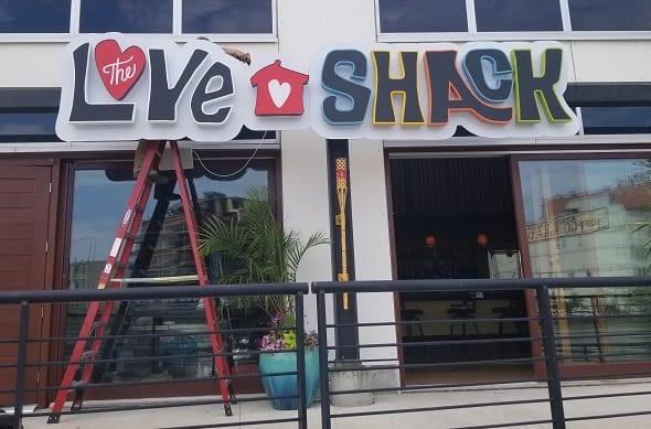 new restaurant sign