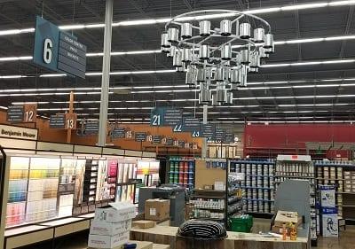 Chandelier and Unique Retail Signage