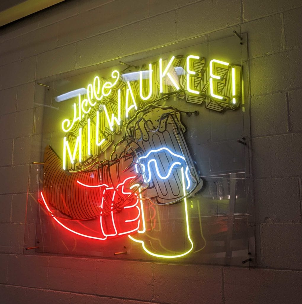 neon sign for taproom