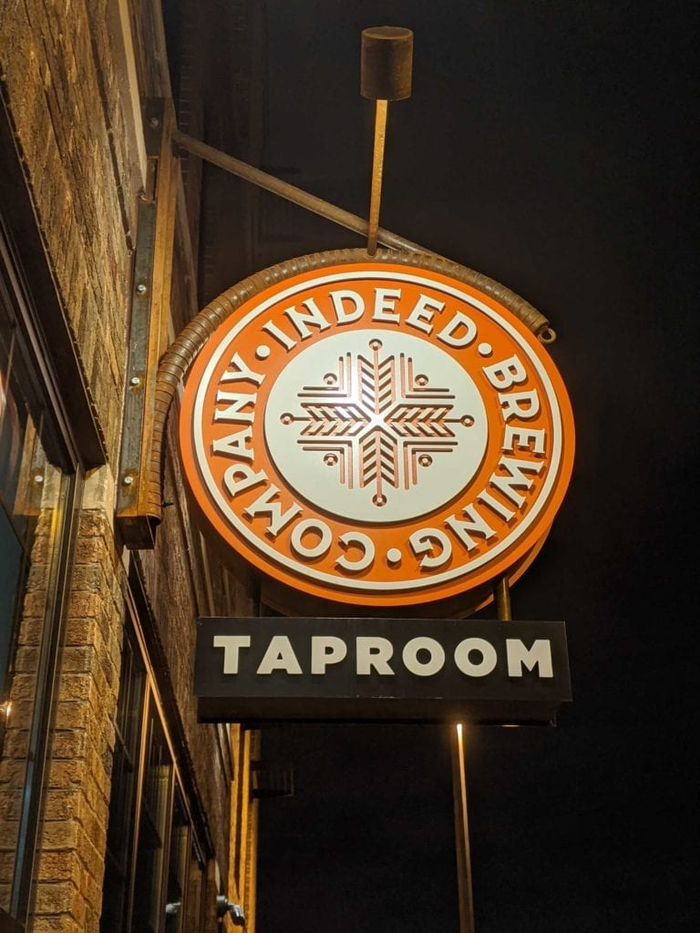 wall sign for taproom