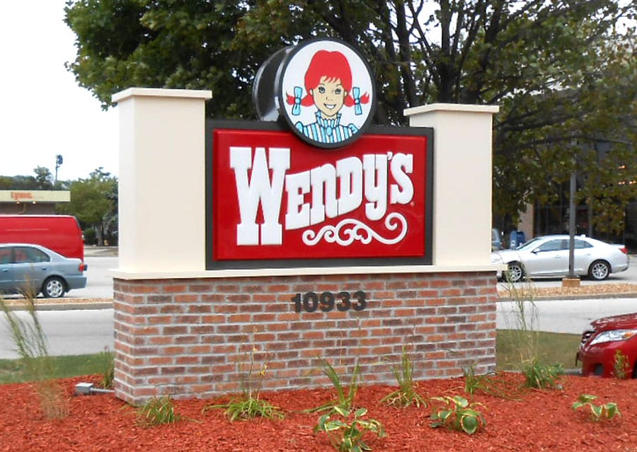 Wendy's Outdoor Monument Sign
