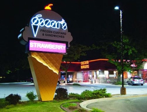 Electric Free Standing Sign Wins Award