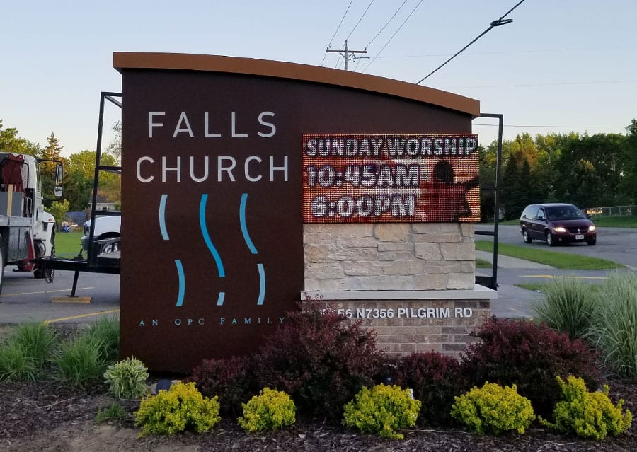outdoor monument sign services milwaukee